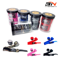 2pcs Roll Width 5cm Length 3M 5M Nylon Stretch Cotton Strap Boxing Gloves Bandage Sanda Muay