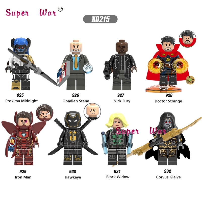 50pcs Infinity War Iron Man Doctor Strange Proxima Midnight Corvus Glaive Obadiah Stane building block for