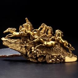 30 CM Grande -- TOP COOL art collection-2019 escritório em casa Decoração do QUARTO-8 Belos cavalos ARTE bronze escultura estátua Decoração