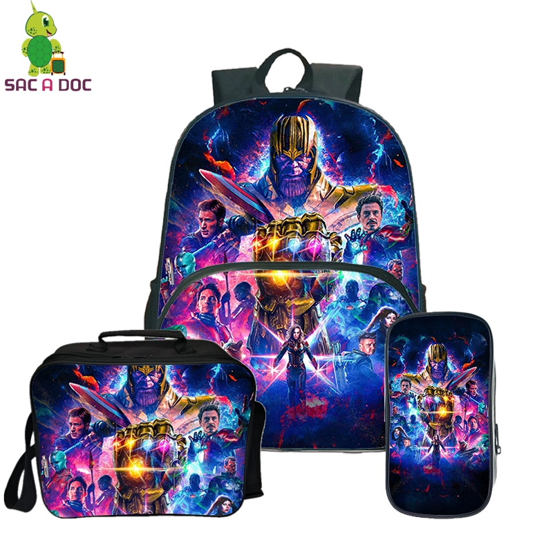 The Avengers Prints Travel Backpack for Teenagers Bags Pack Women Daily Backpack Men Casual Backpacks Mochila