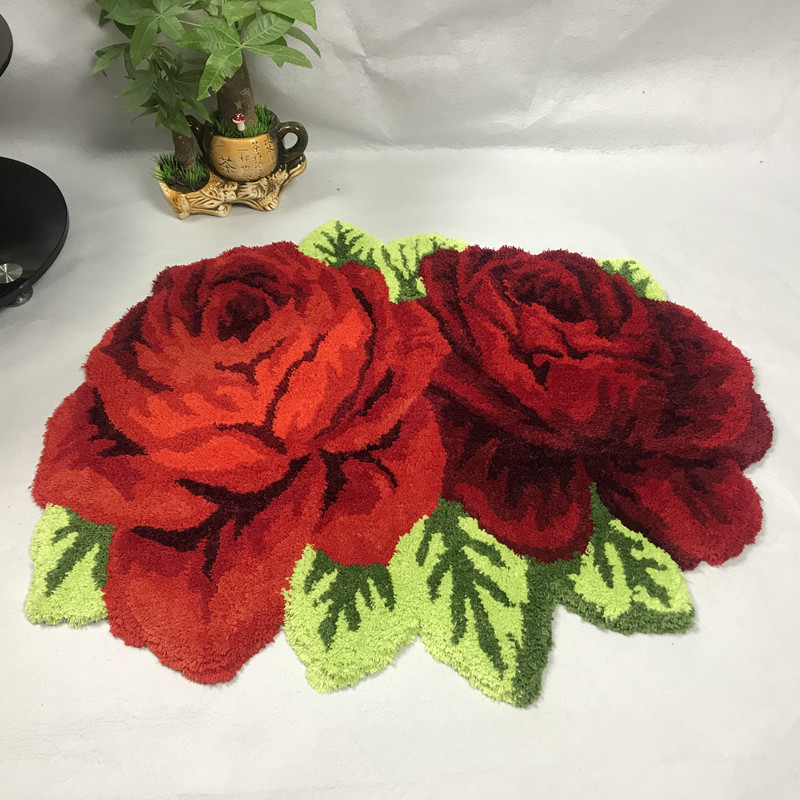 Luxurious 3D Handmade Rose pattern Home decor carpets for living room bedroom Big Area Rugs Lover Romantic Pink/Red Roses CarpetLuxurious 3D Handmade Rose pattern Home decor carpets for living room bedroom Big Area Rugs Lover Romantic Pink/Red Roses Carpet