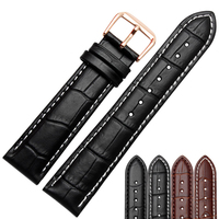 12 14 15 16 18 19 20 21 22 23 24mm Genuine Leather Watchband High Quality