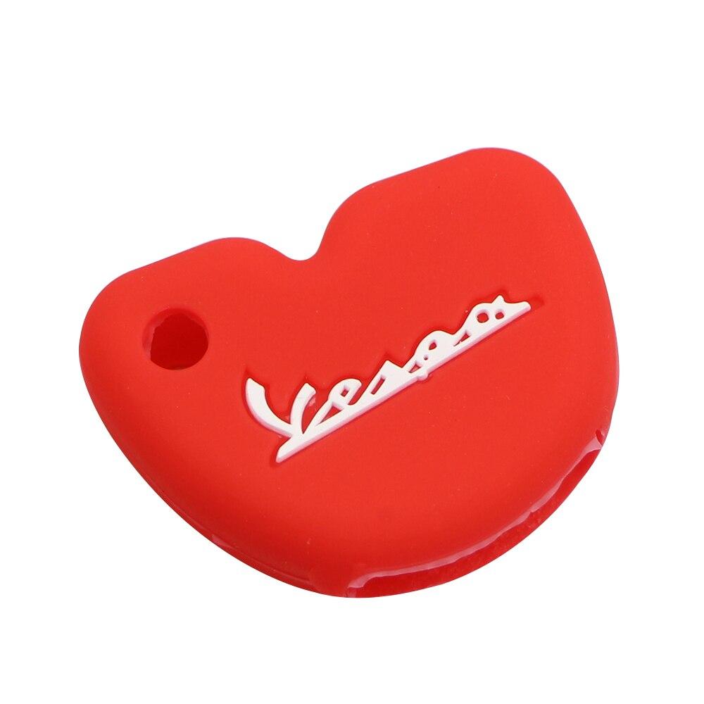 Силиконовый чехол для ключей от машины защитный чехол s подходит для Vespa Enrico Piaggio GTS300 LX150 Fly 125 3vte Gts 200 ключ для мотоцикла - Название цвета: Red 1