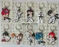 D01-D20 llavero suministros de taekwondo de dibujos animados deporte regalos para cumpleaños regalo clave colgante de llave botón anillo ABCD Total 53 tipos
