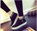 Женская обувь высокого холст обувь женская мода повседневная обувь для женщин