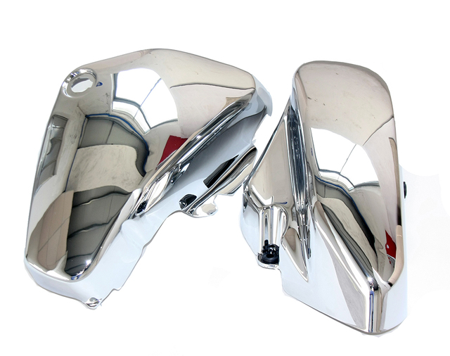 One Pair Chrome Left & Right Battery Side Covers for Suzuki C50 VL800 Volusia VL 800