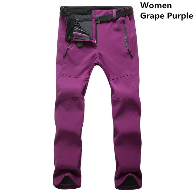 Autumn Winter Warm Stretch Casual Pants Women Windproof Waterproof Thick Fleece Trousers Sweatpants Thermal Softshell Pants Others Men's Fashion