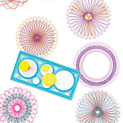 1 шт. спирограф, Геометрическая линейка составление канцелярские Инструменты для студентов Набор для рисования обучения искусство