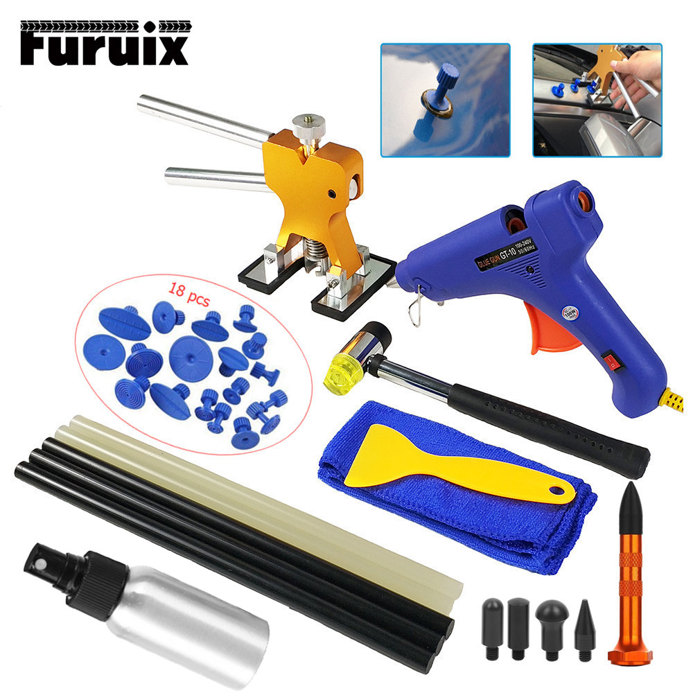 PDR Tools Paintless Dent Repair Tools Dent Repair Kit Car Dent Puller With Glue Puller Tabs Removal Kits For Vehicle Car Auto(China)