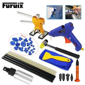 PDR Tools Paintless Dent Repair Tools Dent Perbaikan Kit Penyok Mobil Penarik dengan Lem Penarik Tab Removal Kit untuk Kendaraan mobil Auto
