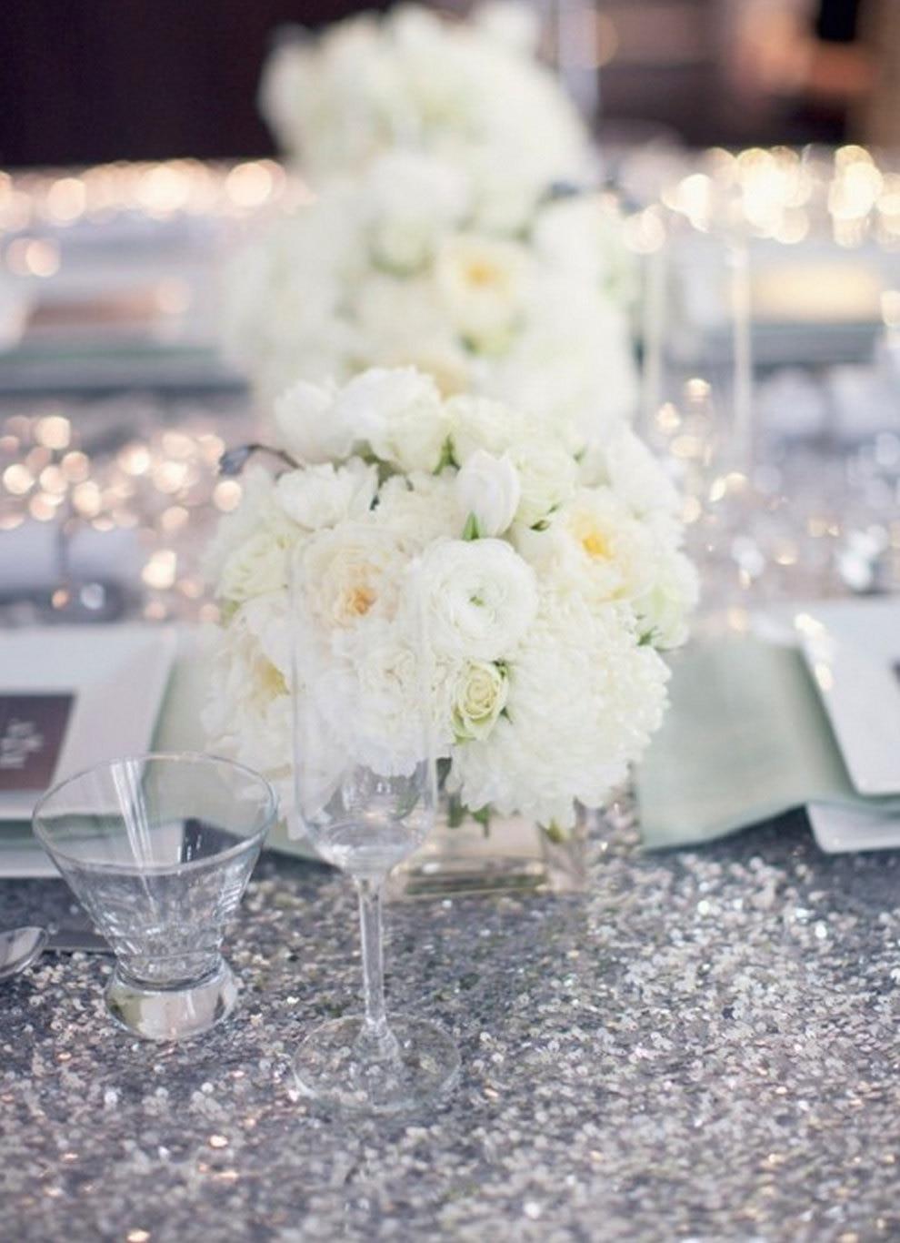 2019 brillo lentejuelas mantel 120 pulgadas de la torta de boda mantel redondo de lentejuelas de la boda de ropa de cama de plata/Champagne/oro/ blanco-in Manteles from Hogar y Mascotas    3