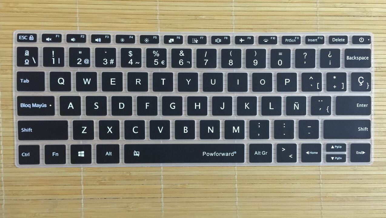 """(10 Stücke) 13,3 """"spanisch Für Xiaomi Notebook Mi Air 13,3 13 Zoll Silikon Laptop-tastatur Covers Schutz Haut"""