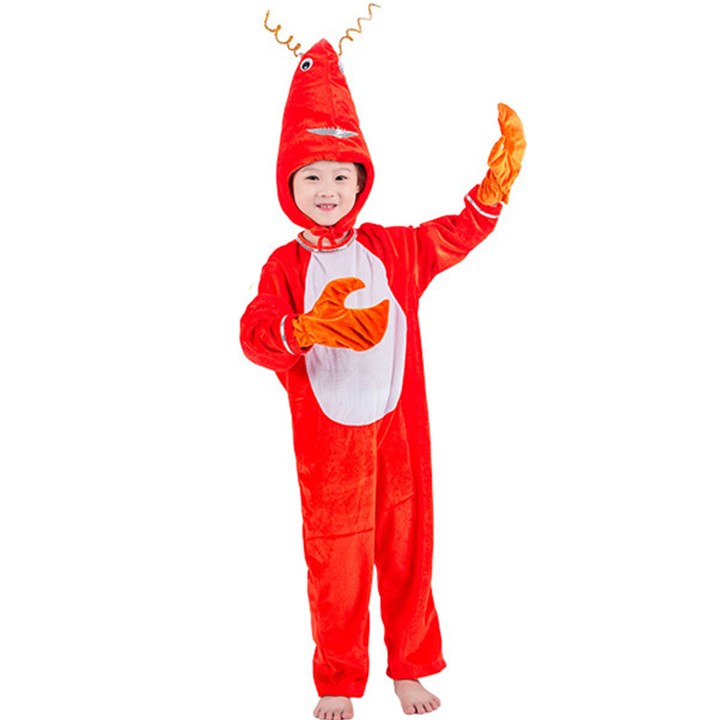 Eraspooky Animal Cosplay Children Halloween costume kids Lobster Jumpsuit Adult Cartoon Carniival Party Family Fancy Dress Crab