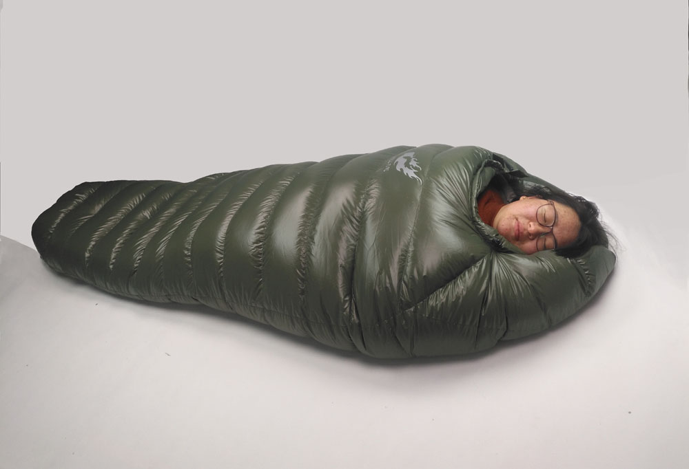 Image 4 - Winter Sleeping Bag Cold Temperature Sleeping Bag for Winter, Army Green Duck Down Filling 1kg  1.5kg down Sleeping Bagsleeping bag coldwinter sleeping bagdown sleeping bag -