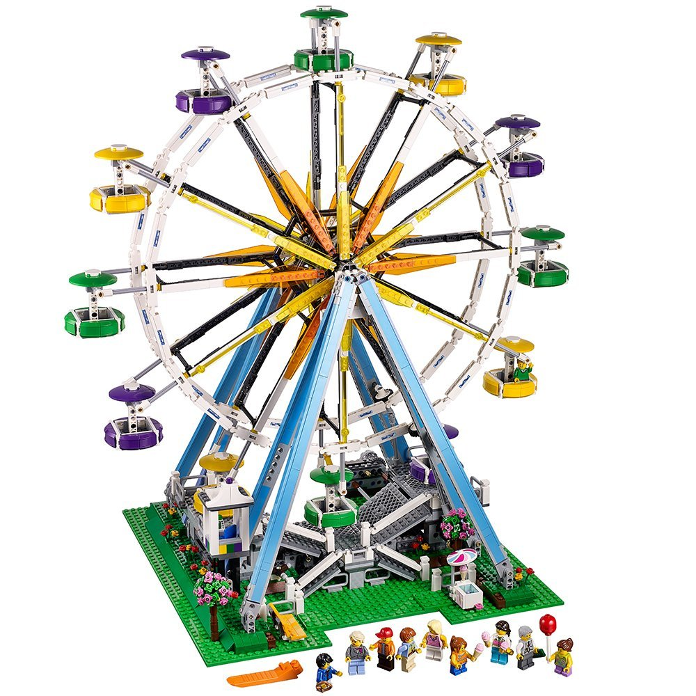 Lepin 15012 2478Pcs City Expert Ferris Wheel Model Building Kits Blocks Bricks Toys Compatible 10247 2478pcs lepin 15012 city expert ferris wheel model building kits assembling block bricks compatible with 10247 educational toys