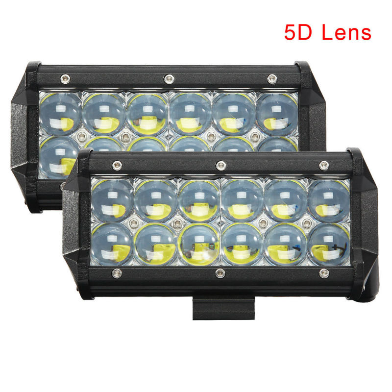 2pcs 7 inch 84W 5D LED Work Light Bar SPOT FLOOD Beam LED for Jeep Off road 4WD Boat SUV ATV Truck DC 12V 24V