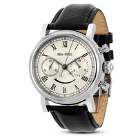 Leisure Automatic Mechanical Genuine Leather Waterproof Watch with Rome Digital Business for Various Occasions m193s