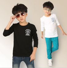 New brand t-shirt for boy 4-12 year boys long sleeve blouse kids boy cotton wear comfortable children fashion clothes 2602d