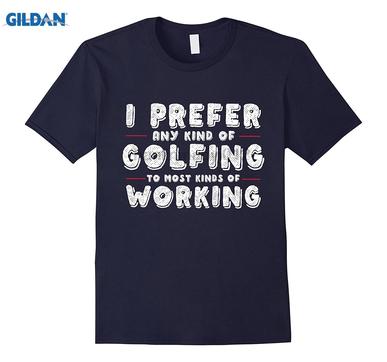 GILDAN Trendy Joke Golfing T shirt Funny Golfer Gift Tee Dress female T-shirt