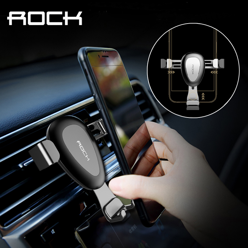 Рок обновлен тяжести автомобильный держатель телефона для iPhone 7 6 6 S плюс Samsung S8 вентиляционное отверстие розетки универсальный стенд для 4-6 …