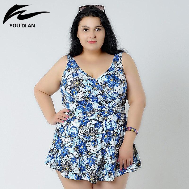 ФОТО print plus size one piece swimsuit 2017 Sexy One Piece Swimwear sexy bathing suit female swimsuit 8XL