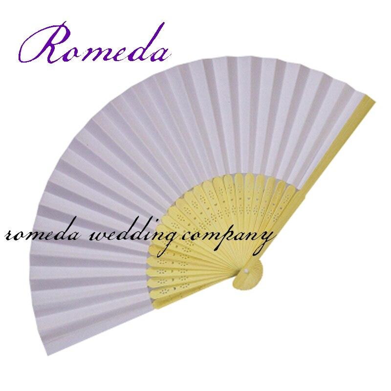 S doprava zdarma 50Piece / Lot Velkoobchod Papírové dekorace pro Party Levné svatební laskavosti Svatební Fan Fan