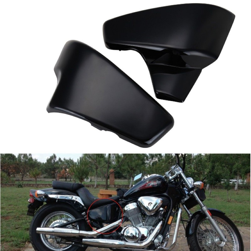 Seitendeckel Batterie Side Faring Cover Abdeckung for Honda VT 600 Shadow VLX Deluxe Steed 400VLS chrome switch housing cover for honda shadow 600 vt 750 1300 vtx vt1300c vlx ace