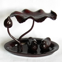 Solid wood ducks swim wedding gifts crafts mahogany carving Home Furnishing a harmonious union lasting a hundred years.