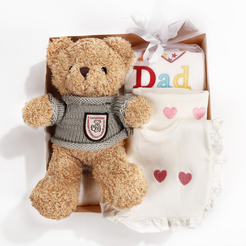Newborn Baby Bear, Pure Cotton Spring And Autumn Suit