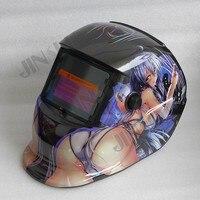 2 in 1 Grind and Weld Welding Helmet Solar Auto Darkening Welding Mask Welding Glass Welder Cap TIG MIG MAG MMA Welder girl