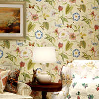 Chinese Flower Bird Wallpaper Bedroom Living Room TV Background Sweet Wall Paper Roll
