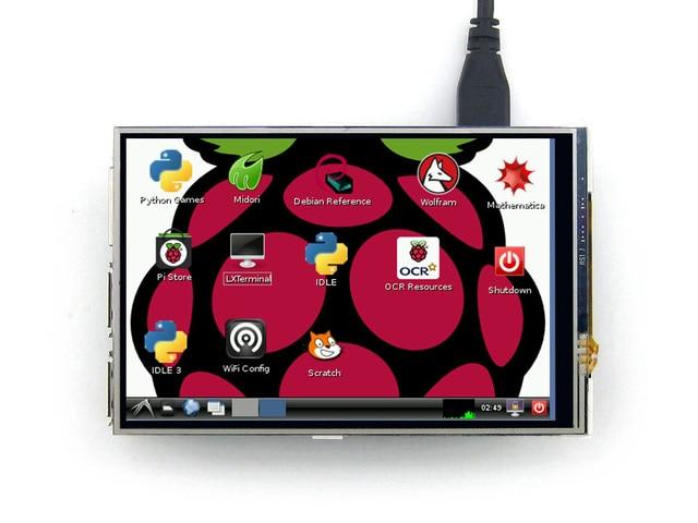 Waveshare Raspberry Pi 4 дюймов RPi ЖК (А) Разрешение 320x420 Сенсорный Экран Для Raspberry Pi 3 Модель B/2 B/B +/A + с Интерфейсом SPI