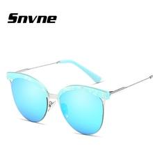 Snvne damas retro medio marco gafas de sol gafas de Sol Clásico para hombres mujeres Marca de diseño gafas de sol oculos feminino mujer KK563