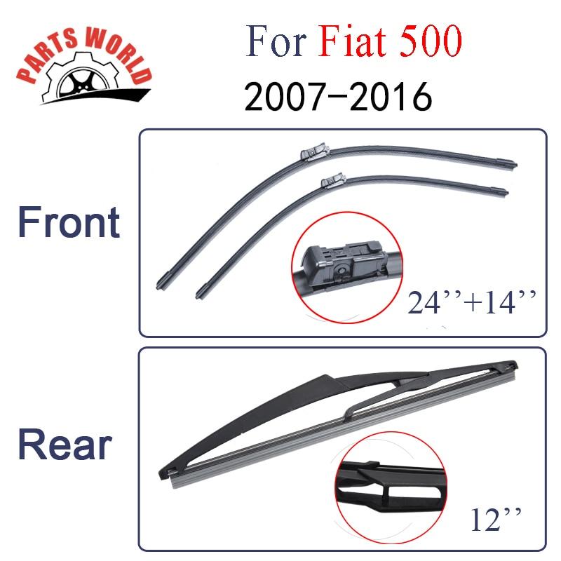 Le spazzole del tergicristallo anteriore e posteriore per FIAT 500 - Ricambi auto