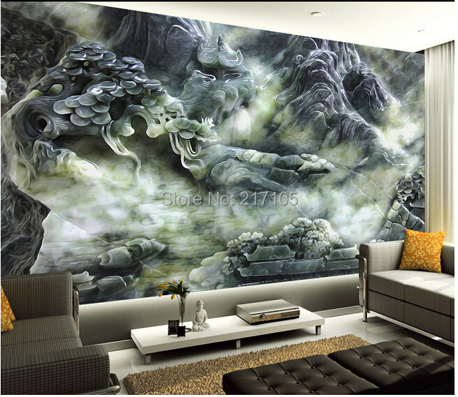 Custom jade texture wall wallpaper mural for the living for 3d wallpaper waterproof