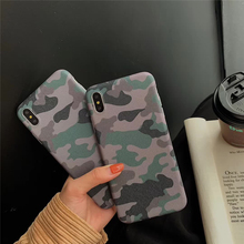 Popular Military Camouflage Case For iPhone 6 6S 7 8 Plus X XR XS Max Army Green IMD Phone Cover