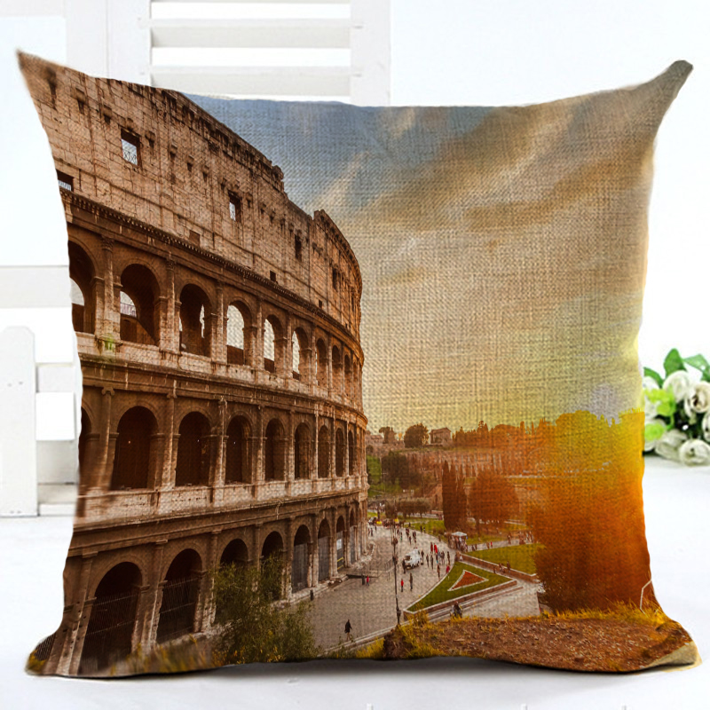 Customized Cushion Covers Building Printed Cojines Throw Pillows Covers Pillow Cases Kids Gift Bedroom Decor Fundas