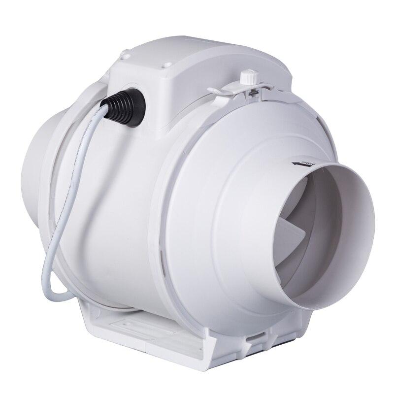 Round Pipe Fan 4 Inch Ventilation Fan Exhaust Fan Pressurized Blower Bathroom Exhaust Fan 100mm ebmpapst ventilation fan r2e225 bd92 09 centrifugal ventilation fan drum fan