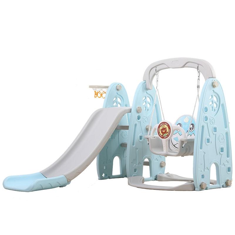 Children's Indoor Home Kindergarten Baby Outdoor Plastic Multi-function Slide Swing Three-in-one Combination