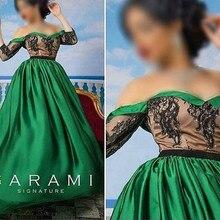 Floor Length Green Evening Dress 2016 Vestidos De Fiesta Hijab Elegant Long Party Dresses