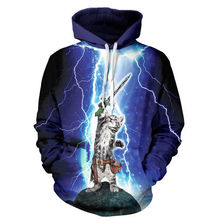 Couples Women 3D Graphic Print Hoodie Sweater Sweatshirt Jacket Pullover Lightning