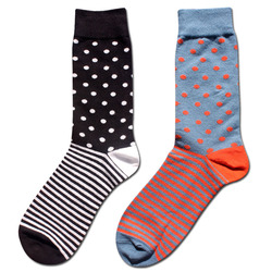 High quality combed cotton men polka dot and striped pattern happy socks style designer dress business.jpg 250x250