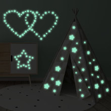 DIY Luminous Carved 127 Stars Fluorescent Stickers For Childrens Bedroom Decoration Wall home decor