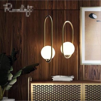 Nordic Creative LED Pendant lights Art Glass Ball Loft Pendant Lamps Dining Room Coffee Shop Led Hanging Light Fixtures
