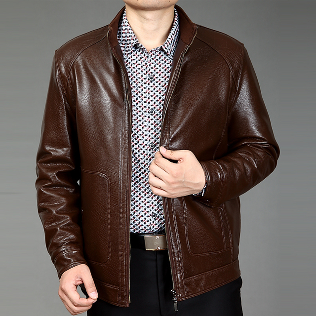 Man Leather Jackets  Leather Jaqueta Masculinas Inverno Couro Jacket Men Jaquetas De Couro Men's Winter Leather Jacket