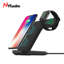 NYFundas Wireless Charger for Apple Watch Wireless Charger Stand 2 in 1 Fast Charger Docking Station Phone Holder for iWatch 2 3