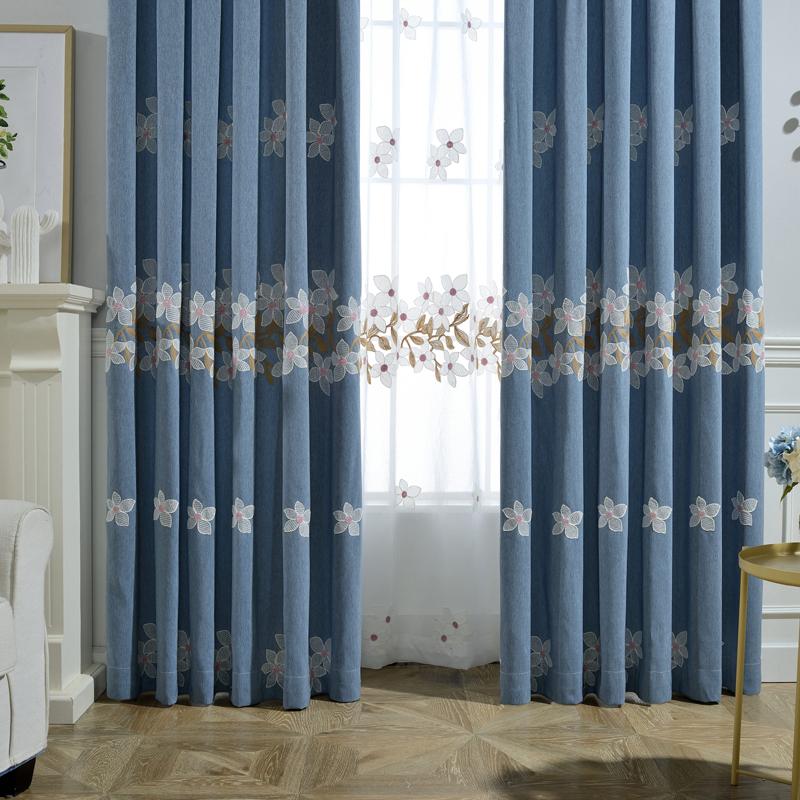 azul rosa branco tules cortinas blackout cortinas feitas para de fibra de decorao de luxo