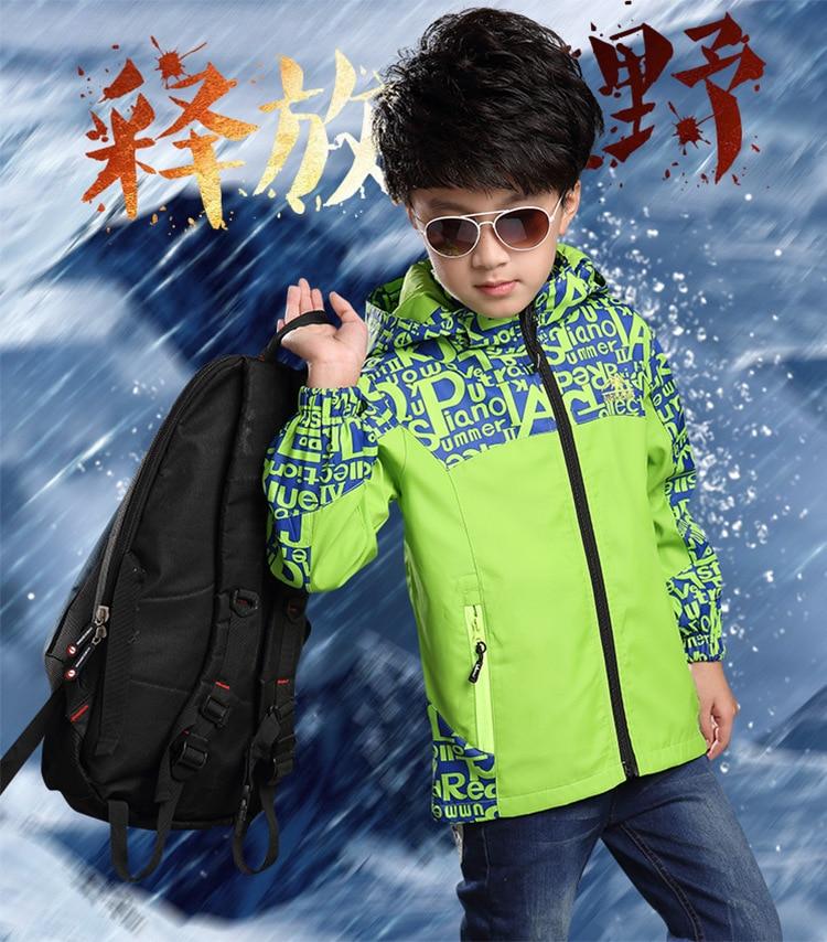 Chłopcy kurtka płaszcz wiosna jesień moda nastolatki ubrania - Ubrania dziecięce - Zdjęcie 2
