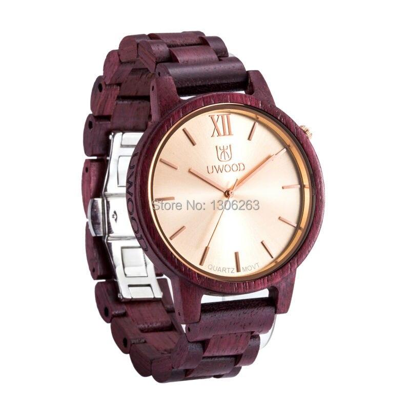 NEW ARRIVAL Men Quartz Wood Watch Luxury Gold Swiss Movement Quartz Wooden Watch Men Relogio Masculino Wood Watches