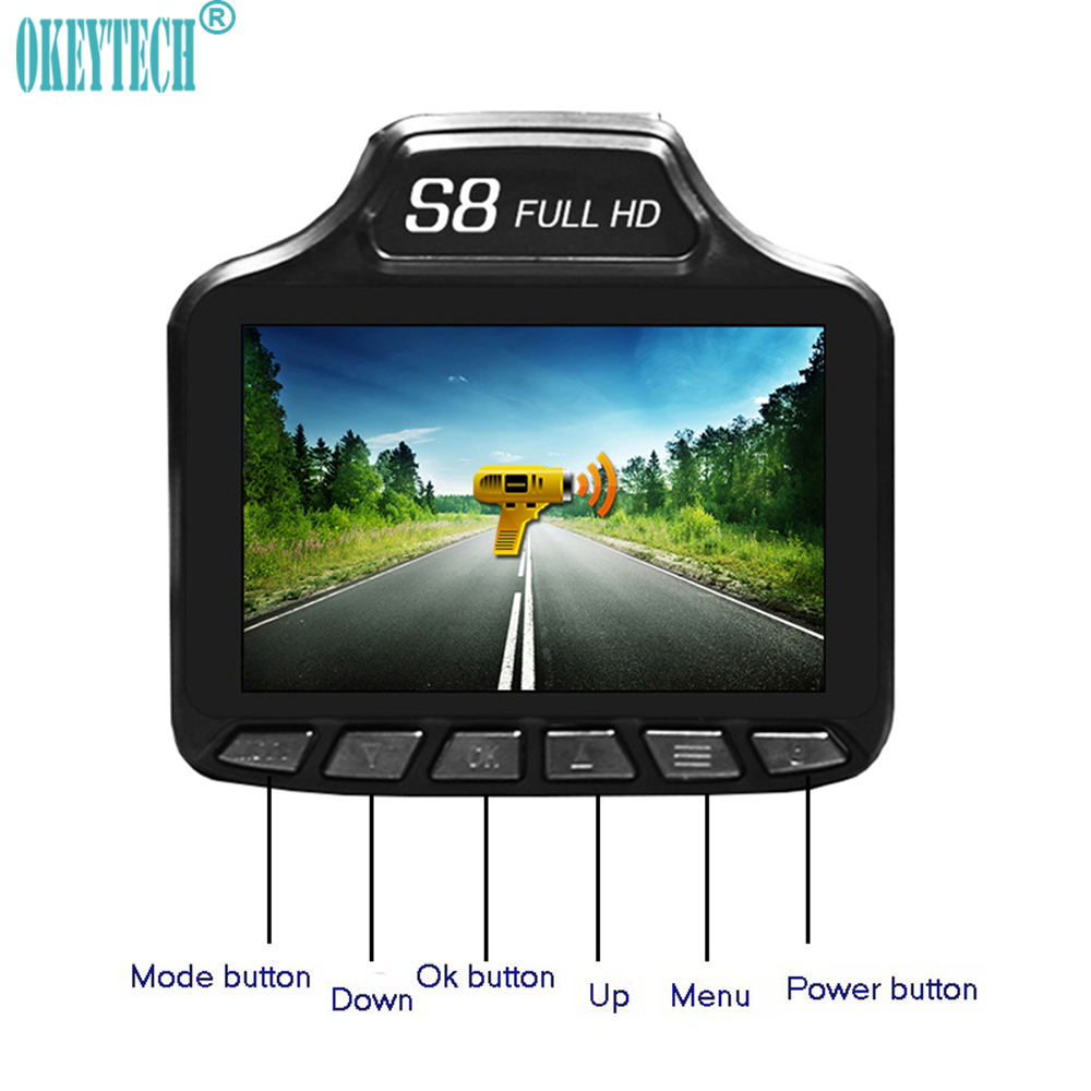 OkeyTech New 2 in 1 Car DVR Best Radar Detector Auto font b Camera b font
